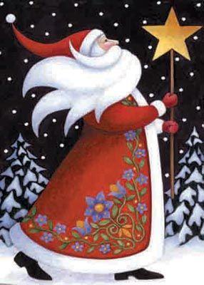 Santa & Star - Christmas Banner