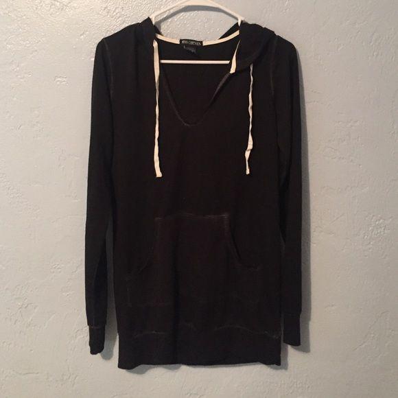Black thin hoodie Good condition Tops Sweatshirts & Hoodies