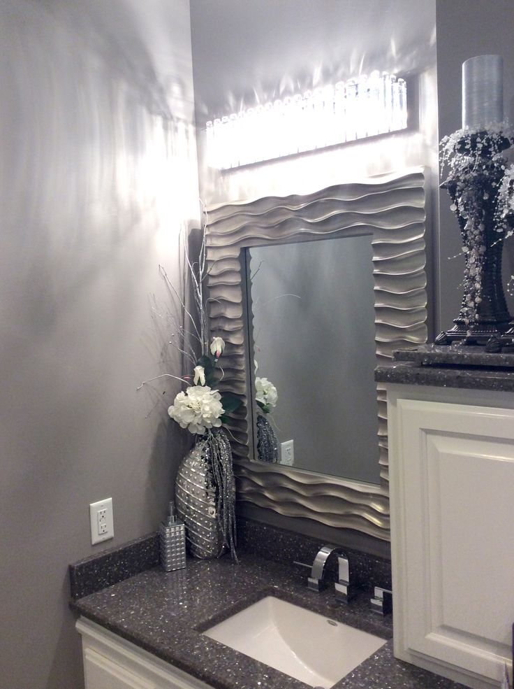 Submission from Sheryl Braun of our Zenith Mirror over a vanity