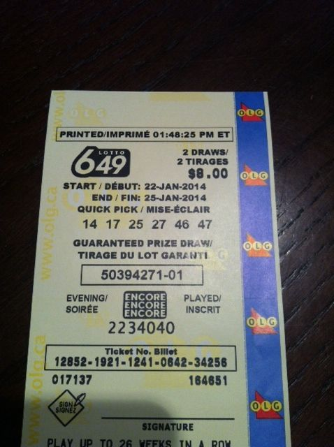 Fru-gals Giveaways ~ Money Share Lotto 649 $5,000,000 Saturday January 25th 2014! - Fru-Gals