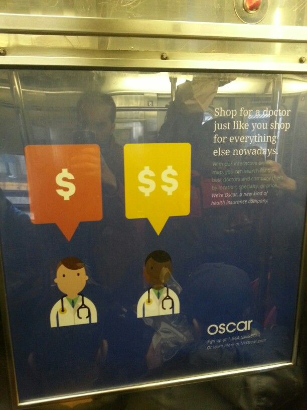 """Shop for a doctor just like you shop for everything else nowadays"" (saw in the NYC metro)"