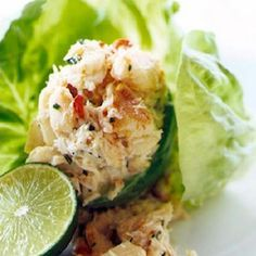 Zesty Jumbo Lump Crabmeat on a bed of Romaine with a Meyer Lemon  Spritz for your HCG Diet Lunch - Everybody Eats News