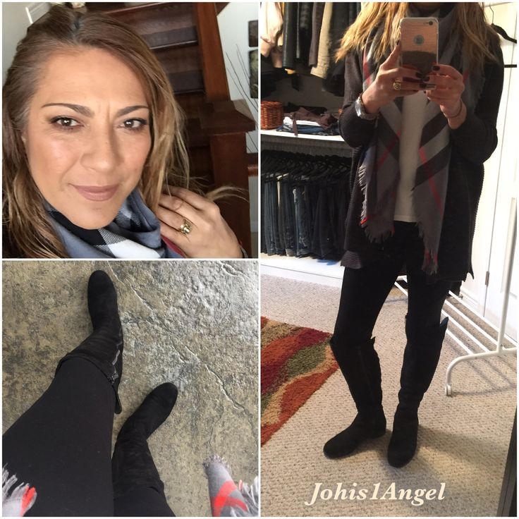 Today's outfit. I love love ❤️ to wear Leggings, scarfs and boots. Boots are DSW, leggings from Suzy Shier, cardigan from Zara. My make up is mainly Hourglass Ambient Lighting Palette (2015) on my face, Too Faced Chocolate Bar eye palette and too faced Melted Liquified Long Wear Lipstick  in Neutral Nude.