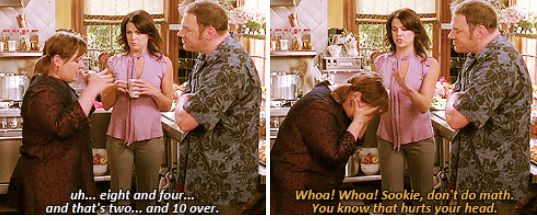 """When she was all of us trying to do maths.   19 Times Sookie St James Was The Best Part Of """"Gilmore Girls"""""""