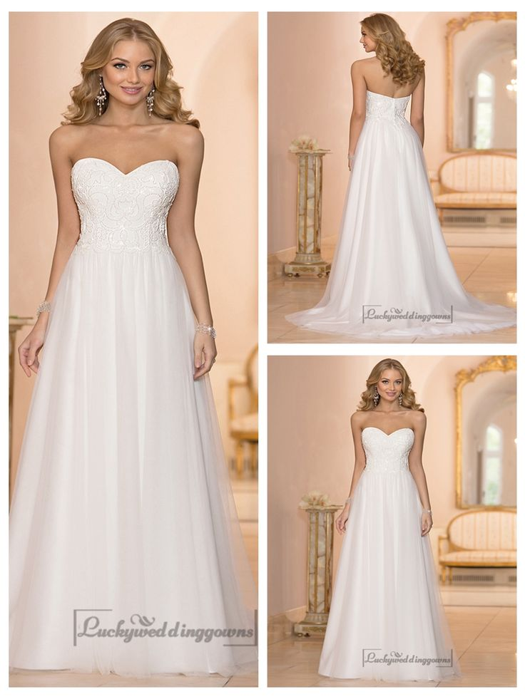 SWEETHEART CRYSTAL BEADED A-LINE WEDDING DRESSES