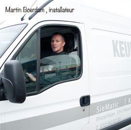 """Martin Boerdam. """"Ik kom graag langs voor onderhoud"""" Installateur"""