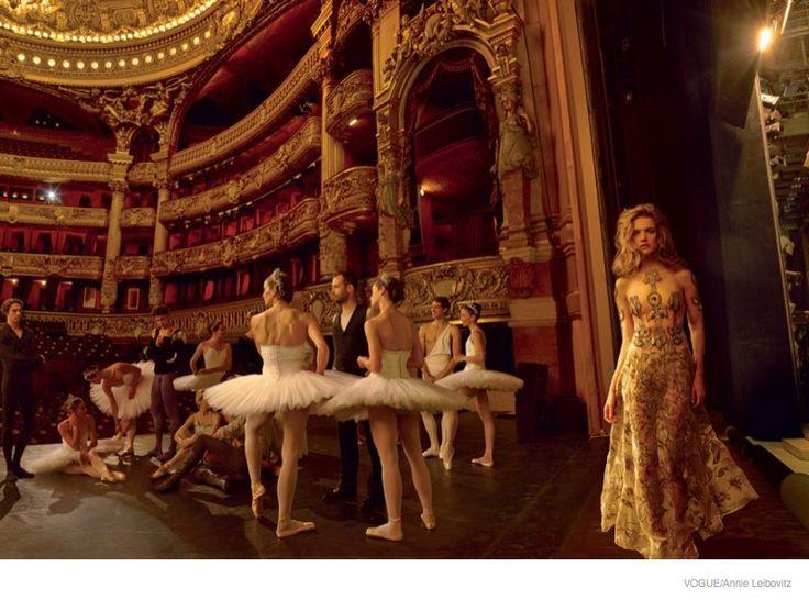 Natalia at the Ballet - Natalia Vodianova by Annie Leibovitz for Vogue US November Cover issue
