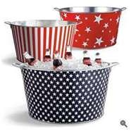 Cute party tubs!!Ideas For The 4Th Of July, July Parties, Dollar Trees, Red White Blue, Beverages Tubs, Home Decor, Patriots Tubs, Martha Stewart, July 4Th