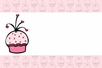 Cupcake Party Invitation © Purple Jungle Designs 2013