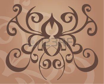 rug+tattoo%3A+Een+tatoeage+als+vector+element++achtergrond.