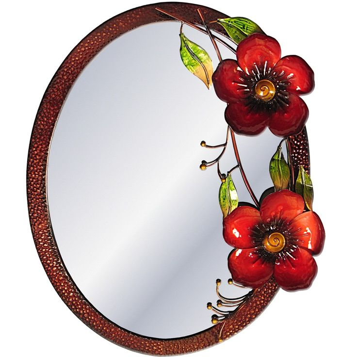 red flower mirror