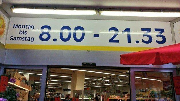 Wie auch immer diese Öffnungszeit zustande gekommen ist. | 25 Momente, in denen Supermärkte 2015 zu weit gegangen sind