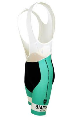 BIANCHI GREEN BIB SHORTS made in Italy