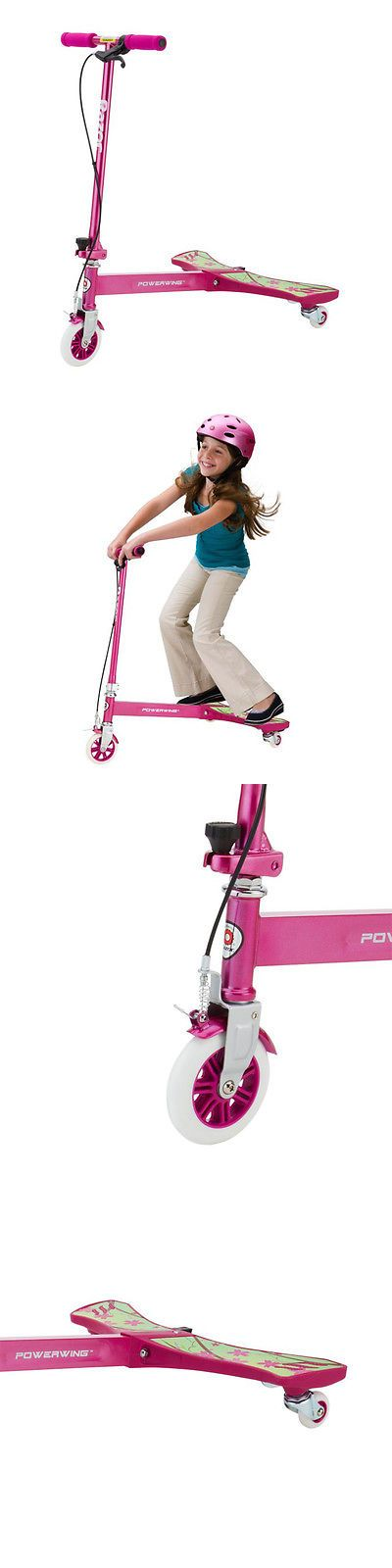 Other Scooters 11329: Razor Powerwing 125Mm 3 Wheel Inclined Caster Powered Scooter, Sweet Pea Pink -> BUY IT NOW ONLY: $59.99 on eBay!