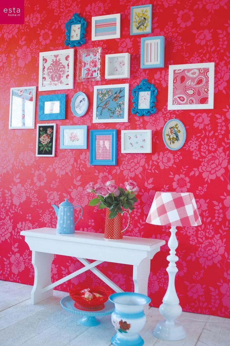 wallpaper, estahome.nl, bellerose, flower #behang # bloemen #fotolijstjes