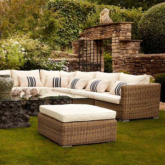 Luccombe Garden Ottoman Rattan Luxury Garden Furniture Modern Outdoor Seating Teak Outdoor Luccombe white bedroom chair dressing