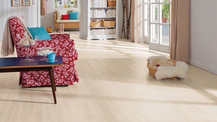 HARO Pavimento in laminato 3-strip Rovere bianco struttura authentic (Imitazione legno)