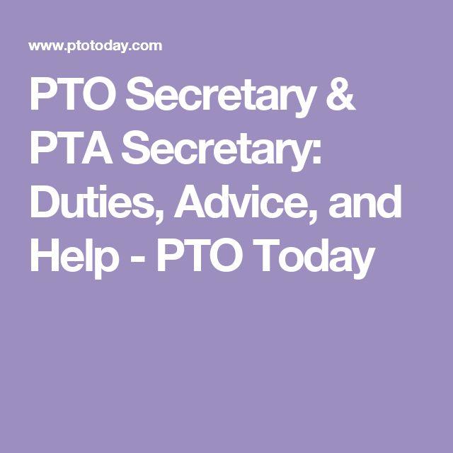 PTO Secretary & PTA Secretary: Duties, Advice, and Help - PTO Today