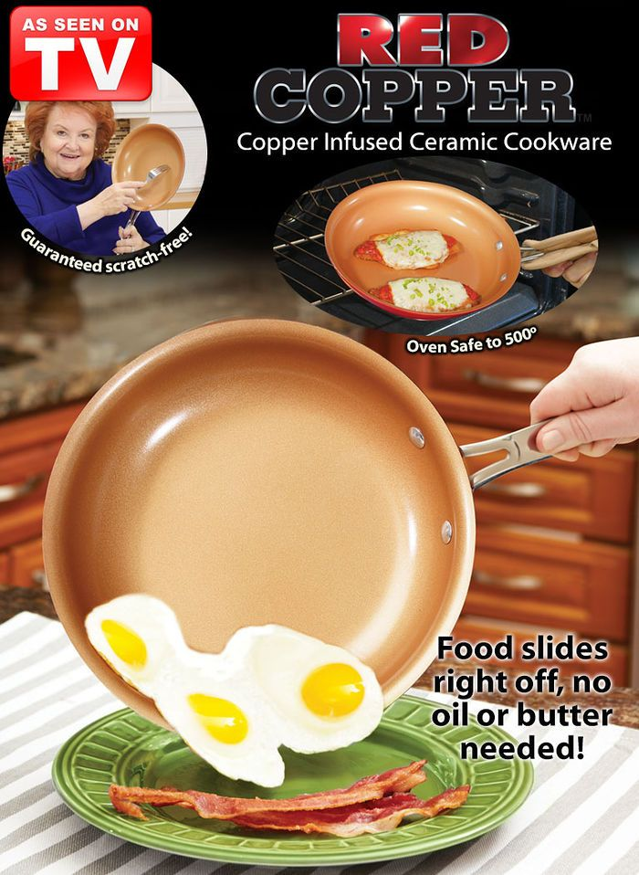 Red Copper Pans at http://www.AmeriMark.com.