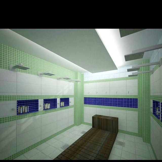 Banheiro tira sal, com chuveiros e deck de madeira. Revestimento em cerâmica e pastilha de vidro, aproveitamento da iluminação natural com tijolos de vidro e iluminação aconchegante com sanca de gesso. Autoria Nathalie Scalzo. #arquitetura #decoracao #maisprojetos #arquiteturamoderna #banheiro #design #arquilovers #iluminacao #arquiteturacontemporanea #casas #residencias #laqueadas #homedesign #interiores #madeira #mdf #lavapes #salinas #montereylocals #salinaslocals- posted by +projetos…