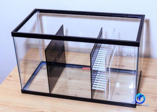 $100 - DLUX-SUMP-REFUGIUM-KIT-BK-CLR-for-10-Gallon-Aquarium-Oceanbox-Designs