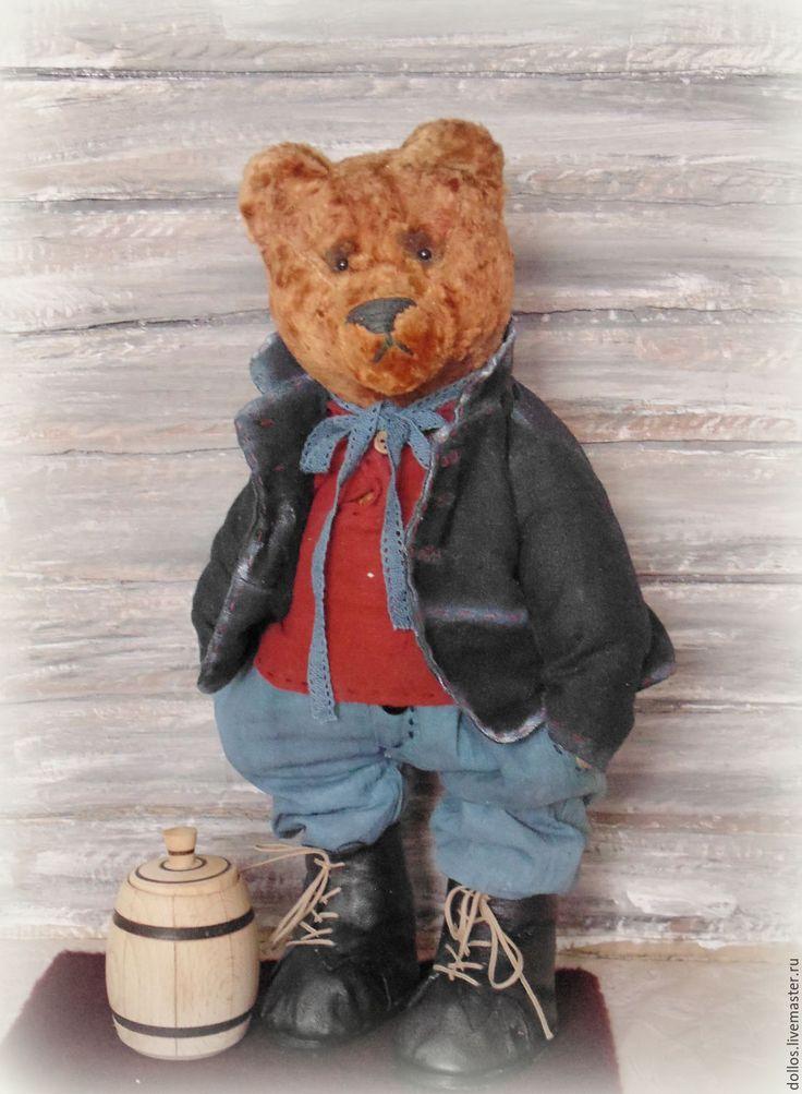Купить Большой мишка с ревуном Потап - коричневый, мишка, тедди, ревун, мечта, плюш, опилки