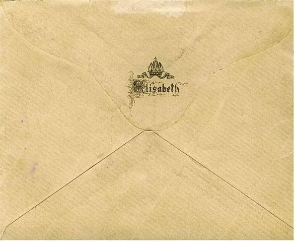 An envelope from Empress Elisabeth's stationery.
