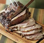 Dry-Aged Beef Rib Roast with a Mustard, Garlic & Thyme Crust