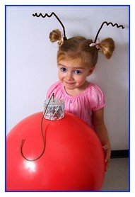 Simple Cindy-Lou Who hair Dr Seuss Who Ville - Lace - can't you just see Rubes as Cindy Lou Who on Halloween?  LOLOL