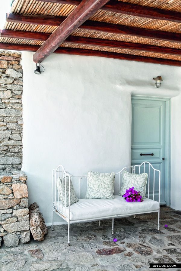 A BOHEMIAN CYCLADIC HOUSE in MYKONOS, GREECE