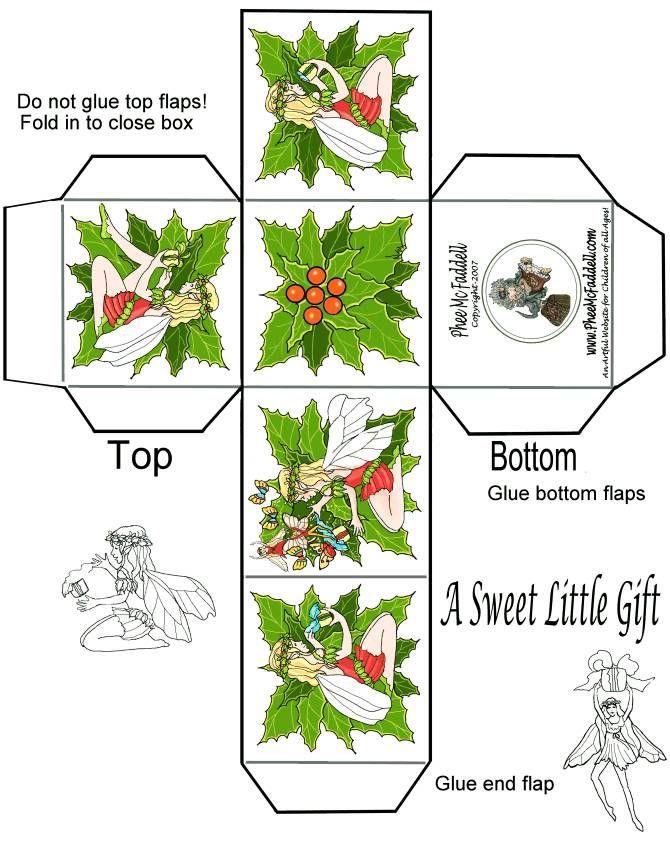 Phee McFaddell Christmas Printables - full size image, box, printable, Christmas, template