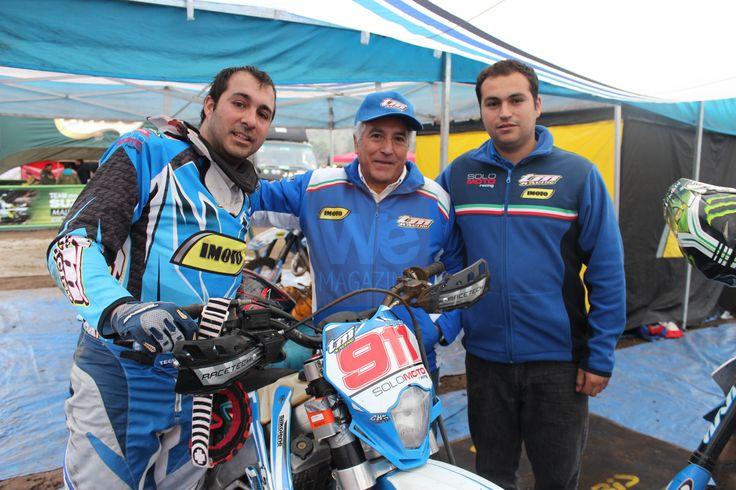Gonzalo Prada, Carlos Clericus, Marcos Gerbaud  Primera fecha Campeonato Nacional FIM Curicó/ Romeral. 23 de junio de 2013