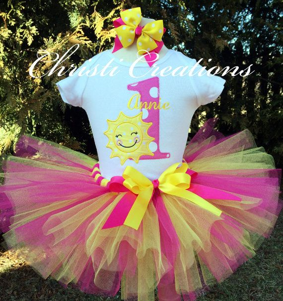 Baby Girl 1st Birthday Tutu Set  You Are My by ChristiCreations 58.00