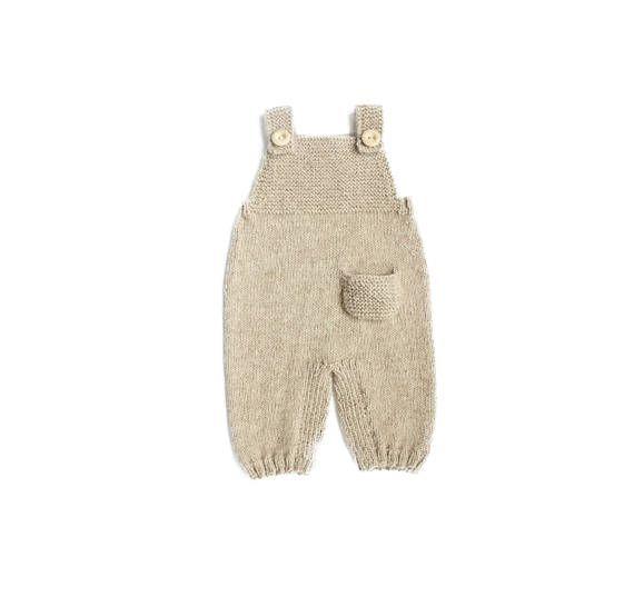 Baby knit romper  Knit overall  Newborn wool longies