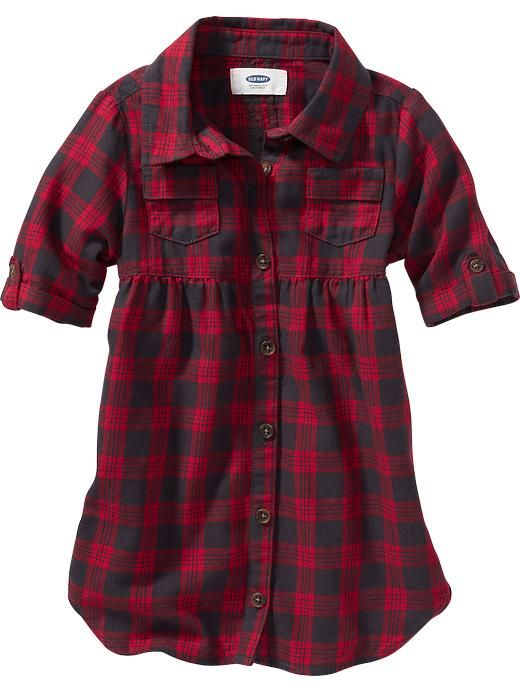 Plaid Shirt-Dress for Baby Product Image
