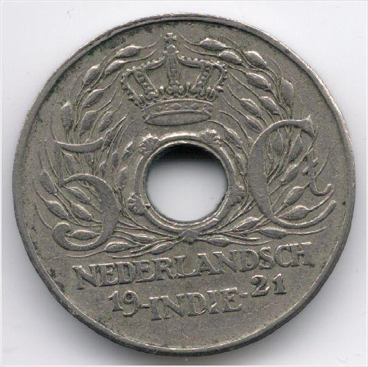 Netherlands East Indies 5 cent 1921 Veiling in de Indonesië,Azië,Munten,Munten & Banknota's Categorie op eBid België