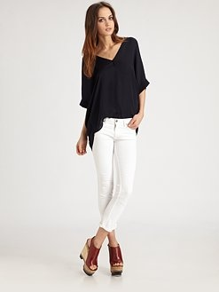 White Vince jeans — perfect for a summer night: Summer Night