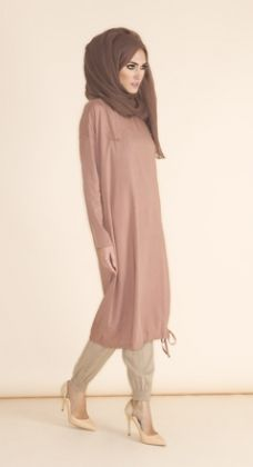 Casual Midi - Dusty Pink  Loose fitting top with drawstring detail at the bottom, pair with Ankle Grip Trousers for a comfortably cool & casual look, garment is finished with our signature button on the pocket detail. http://www.aabcollection.com/shop/product/casual-midi-dusty-pink/890  #aabcollection #newin #pink #modesty #modestfashion #spring