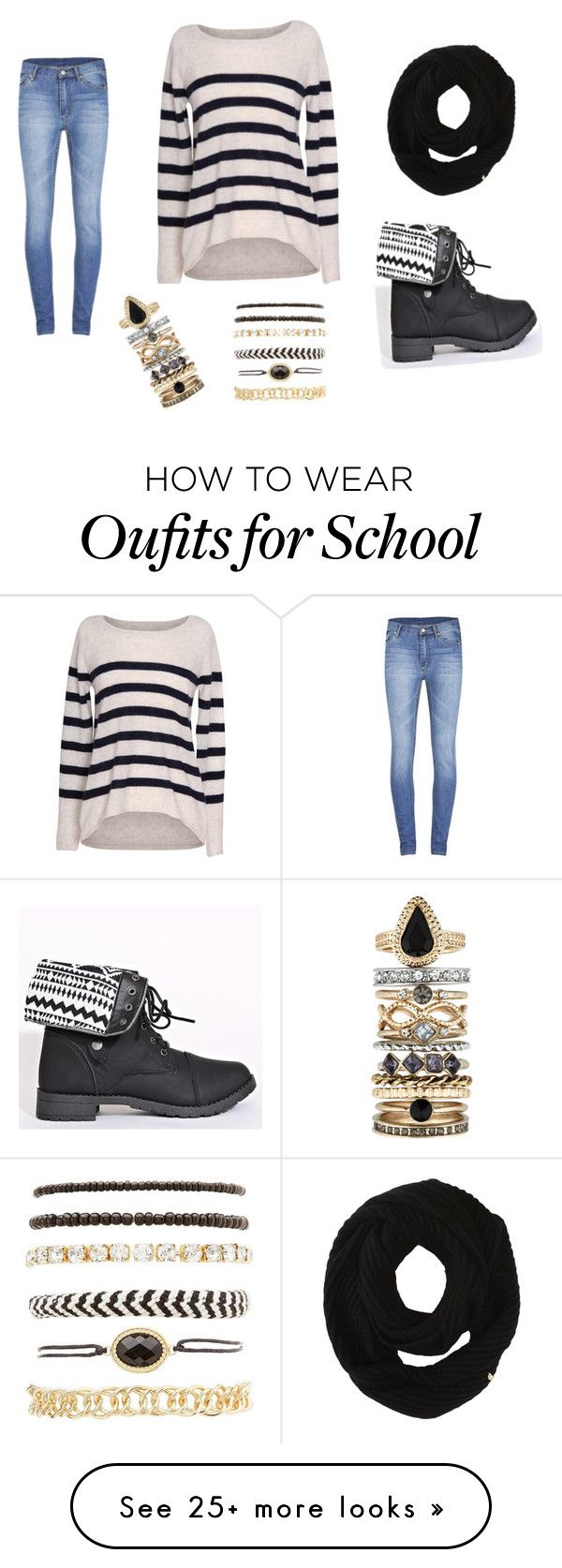 """""""School #43"""" by annao133 on Polyvore featuring Velvet by Graham & Spencer, Accessorize, Cole Haan, Cheap Monday and Charlotte Russe"""