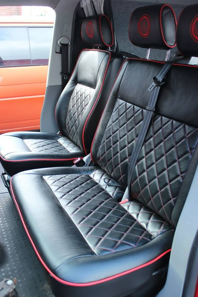 7 Best Vw T5 Black Leather With Red Detailing Images On