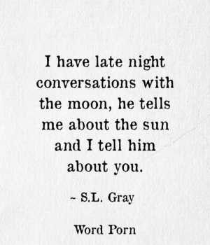 He's so romantic and loves poetry and literature. Even his goodnight texts can be so sweet and poetic. I need to save side good ideas to share with him!