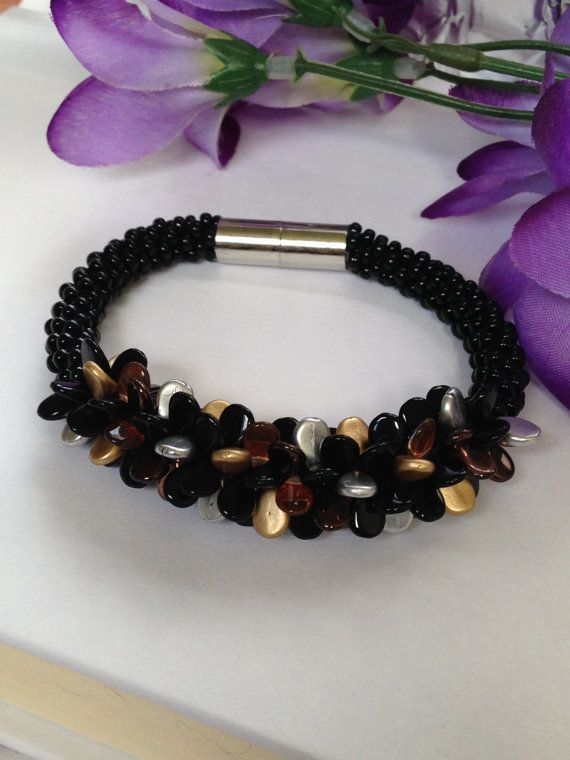 Metallic colours bracelet.