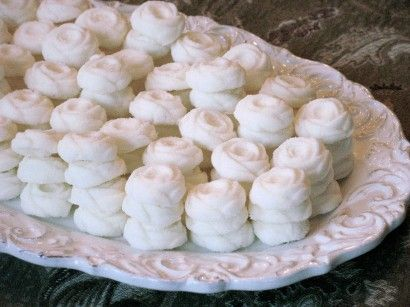 Buttery Cream Cheese Mints ~ cute and easy to make with a charming mold making it a lovely gift or perfect for any occasion (Christmas, weddings/baby showers, tea's, parties, etc.).