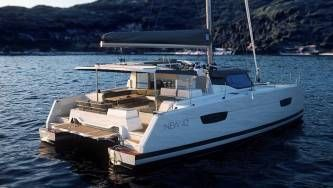 New 42 Fountaine Pajot sailing catamaran  -  cockpit