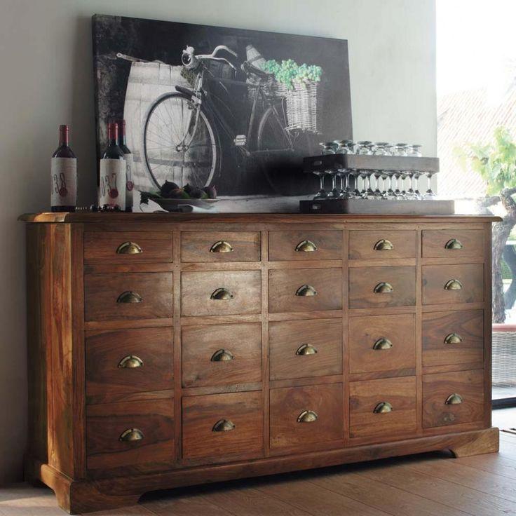 800 cabinet de rangement en bois de sheesham massif l 162. Black Bedroom Furniture Sets. Home Design Ideas