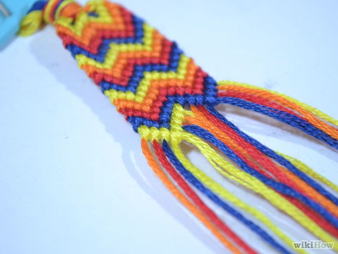 How to Make a Chevron Friendship Bracelet (with Pictures)