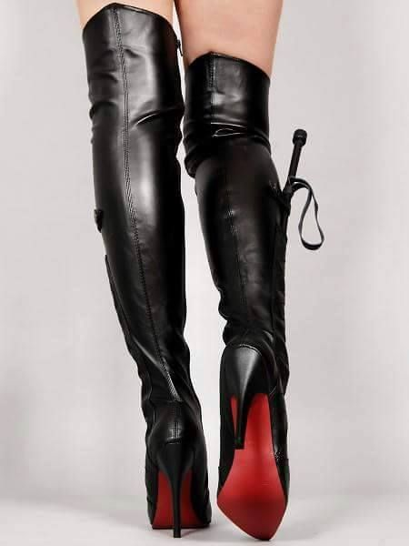 Sexy dominatrix Louboutin boots ( Whip and all!)