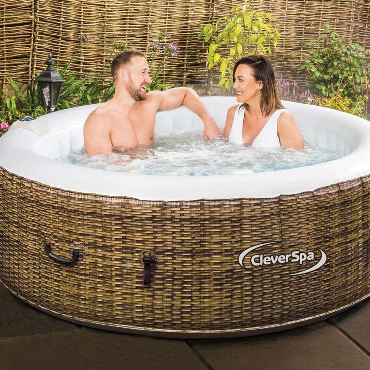 Cleverspa borneo 4 person inflatable hot tub clever