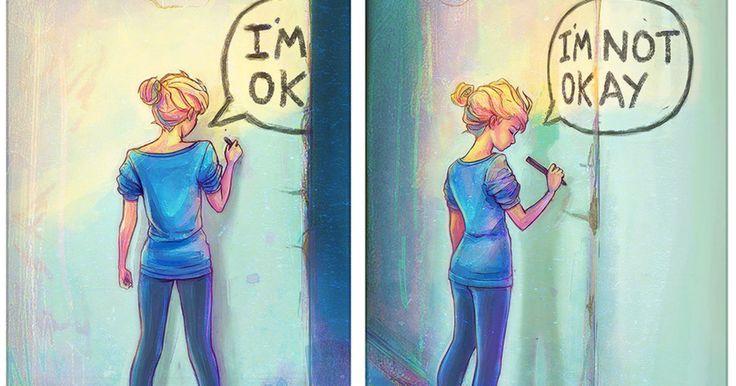 Una artista capta en estas ilustraciones el tormento de la depresión
