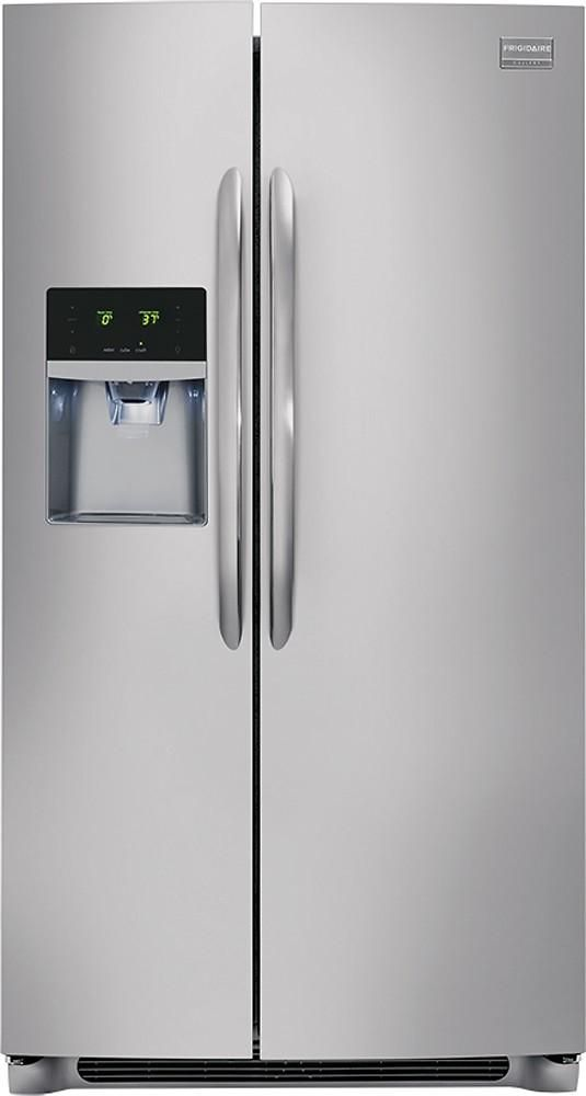 Frigidaire - Gallery 26.0 Cu. Ft. Frost-Free Side-by-Side Refrigerator - Stainless steel for 743$ $743 https://www.lavahotdeals.com/us/cheap/frigidaire-gallery-26-0-cu-ft-frost-free/310256?utm_source=pinterest&utm_medium=rss&utm_campaign=at_lavahotdealsus&utm_term=hottest_12